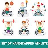 set of handicapped athlete