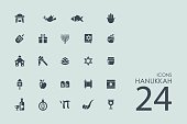 Set of Hanukkah icons