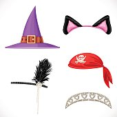 Set of hats for the carnival costumes