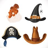 Set of hats for the carnival costumes -