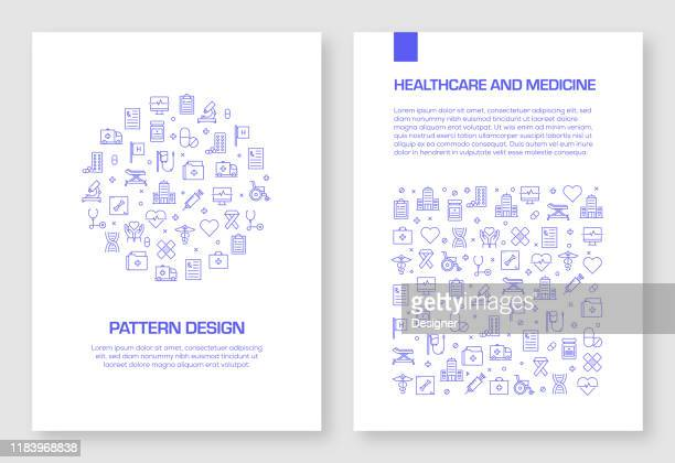 set of healthcare and medical icons vector pattern design for brochure,annual report,book cover. - surgeon stock illustrations