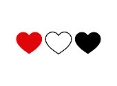 Set of heart icon. Live stream video, chat, likes. Social media icon heart shape.Thumbs up for social media.vector eps10