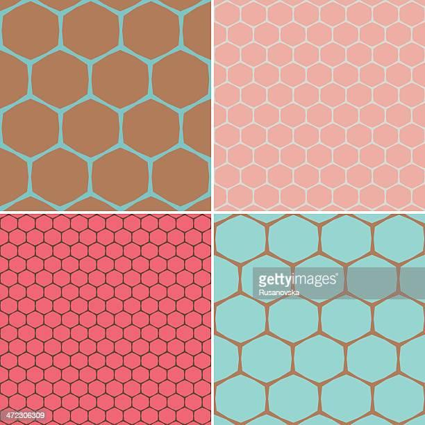 Set of Hexagon Patterns