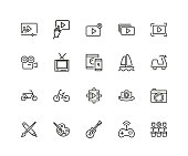 Set of Hobby Line Icons
