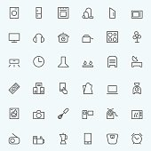 Set of household appliances icons