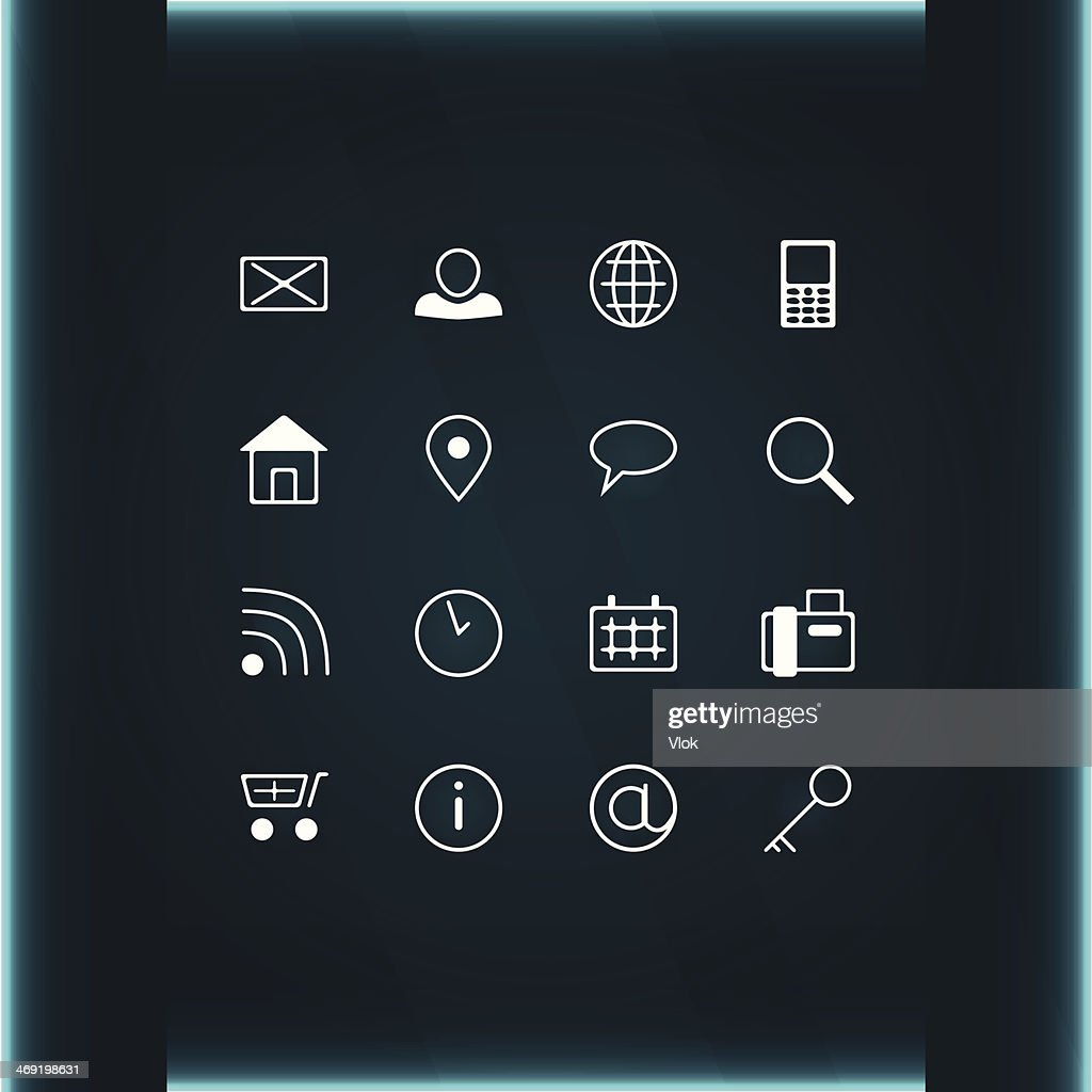 set of icons communication and contacts