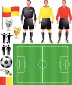 set of icons for European football