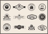 Set of icons for its wine business