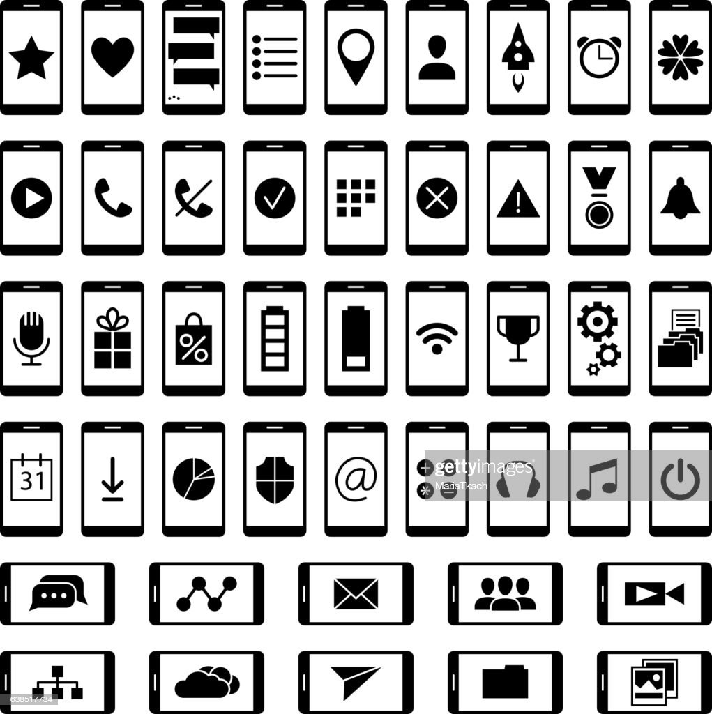 Set of icons for ui user interface mobile devices and