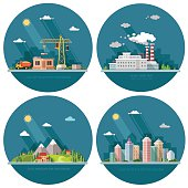 Set of icons for your design. Flat style vector illustration.
