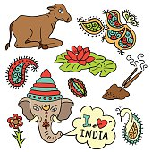 Set of icons - India (vector)
