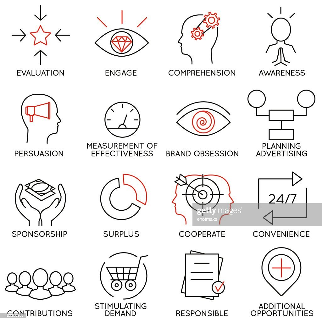 Set of icons related to business management - part 10