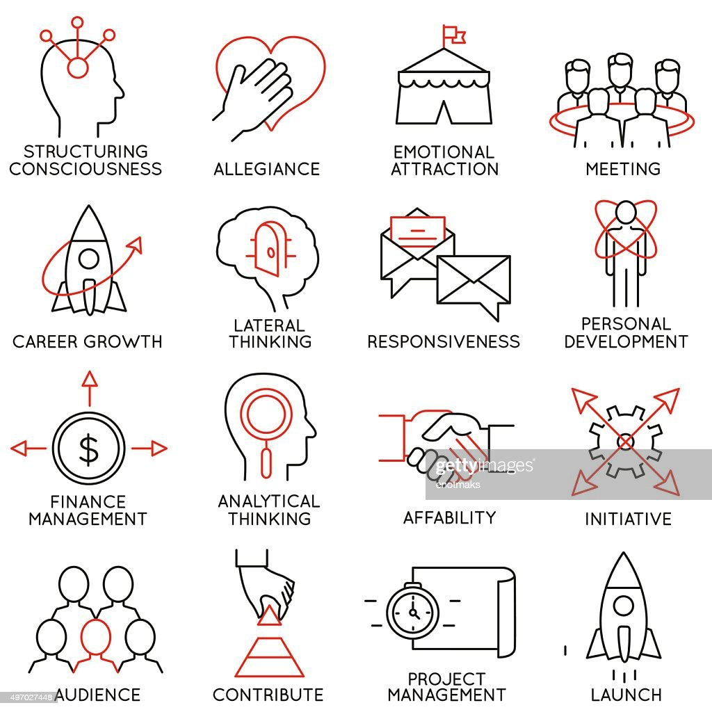 Set of icons related to business management - part 29
