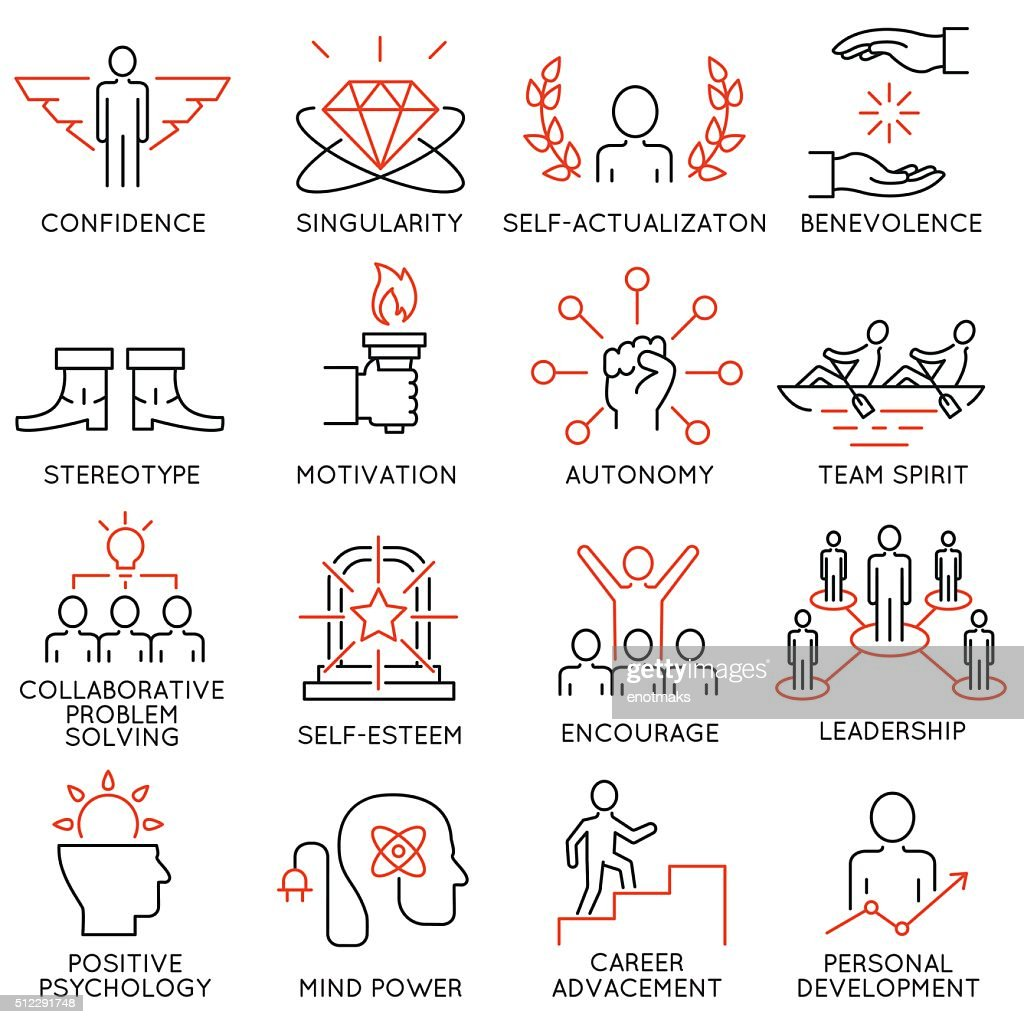 Set of icons related to business management - part 43