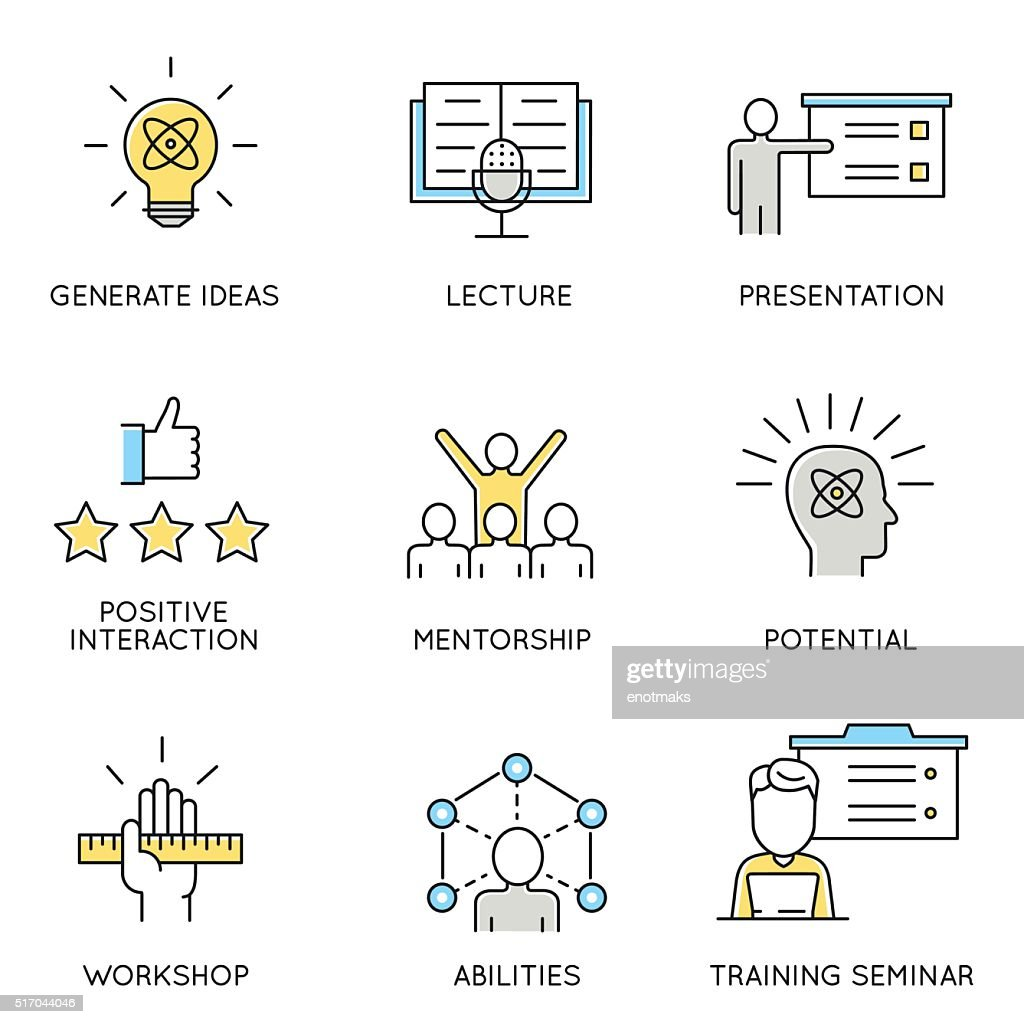 Set of icons related to corporate management - part 1