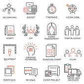 Set of icons related to event management - part 1