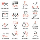 Set of icons related to event management - part 2