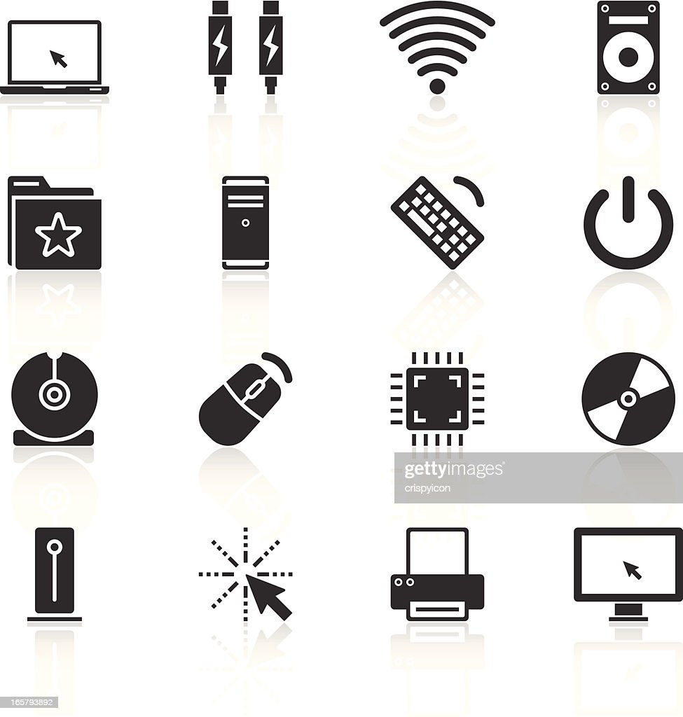 Set of icons relating to computing