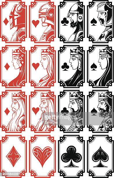 Set of illustrated playing card images