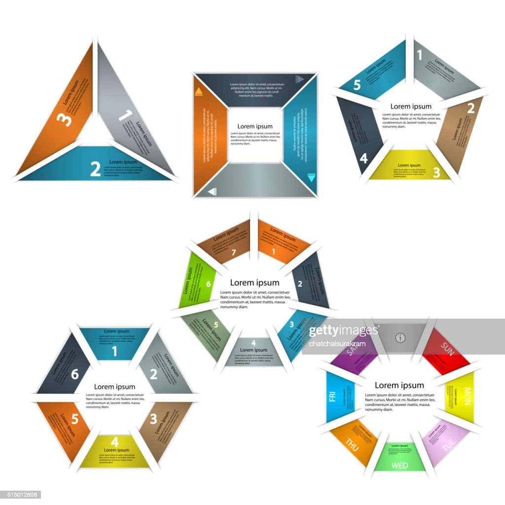 Set of infographic business presentation template.