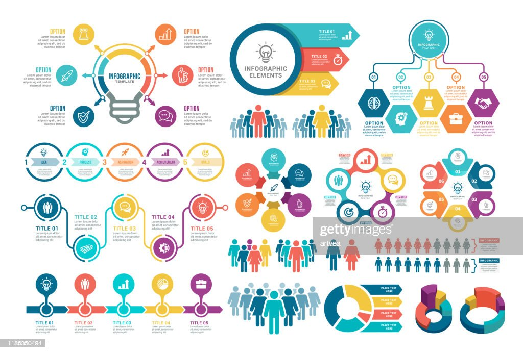 Satz von Infografikelementen : Stock-Illustration