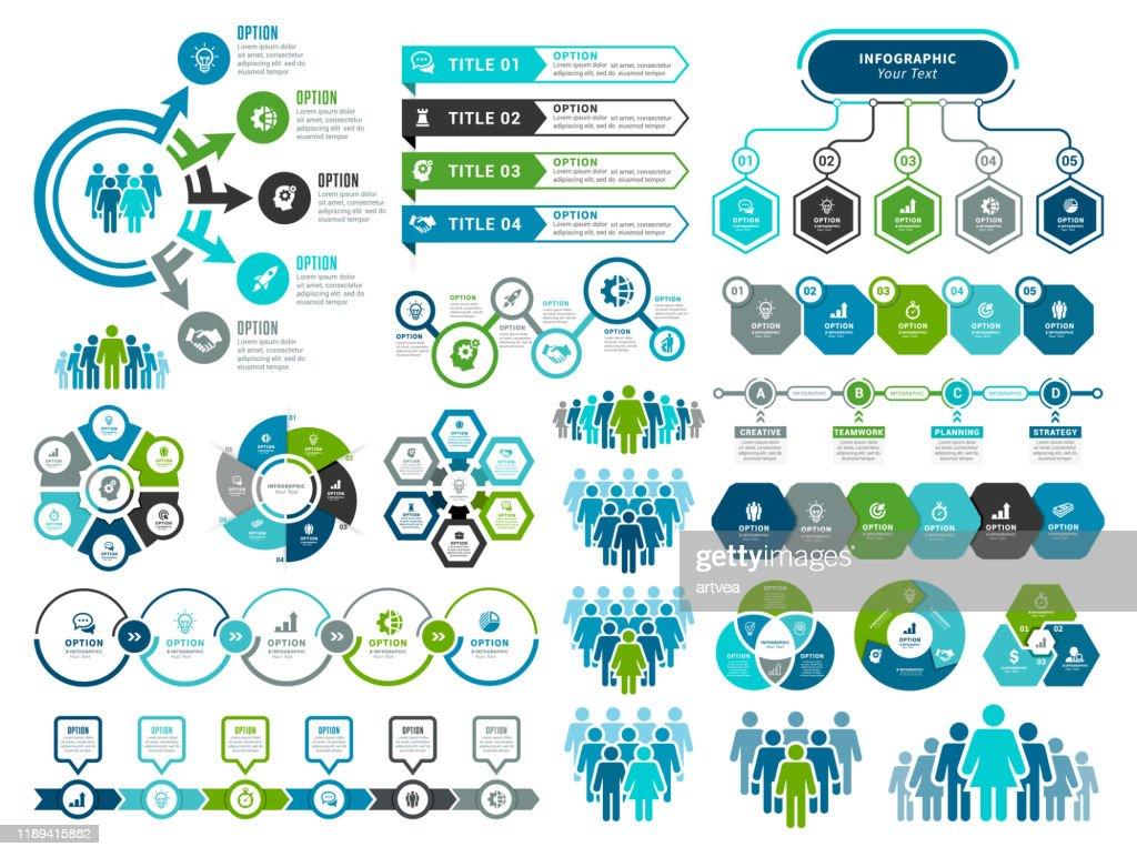 Set infographic-elementen : Stockillustraties