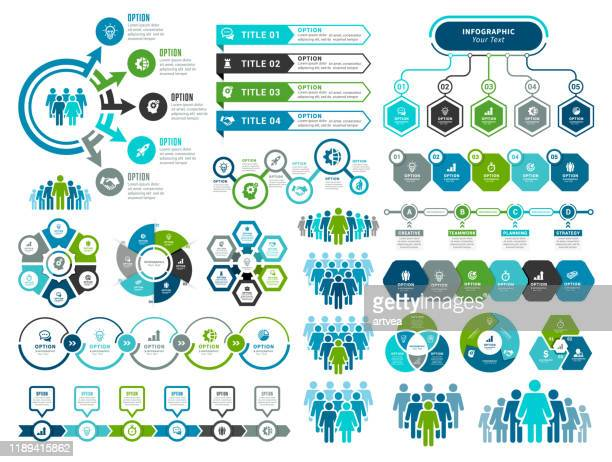 set of infographic elements - organisation stock illustrations