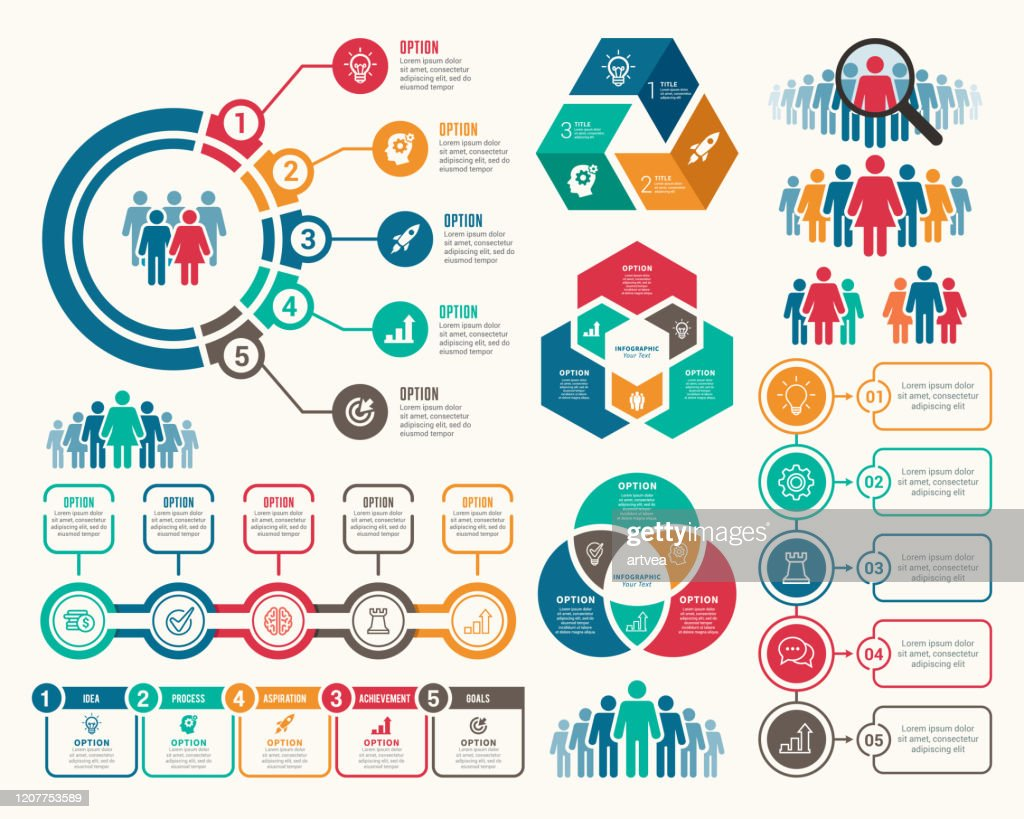 Set of Infographic Elements : stock illustration