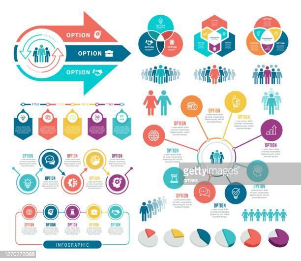 illustrazioni stock, clip art, cartoni animati e icone di tendenza di insieme di elementi infografici - numero 3