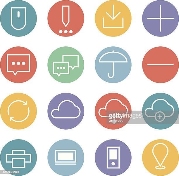 Set of interface icons
