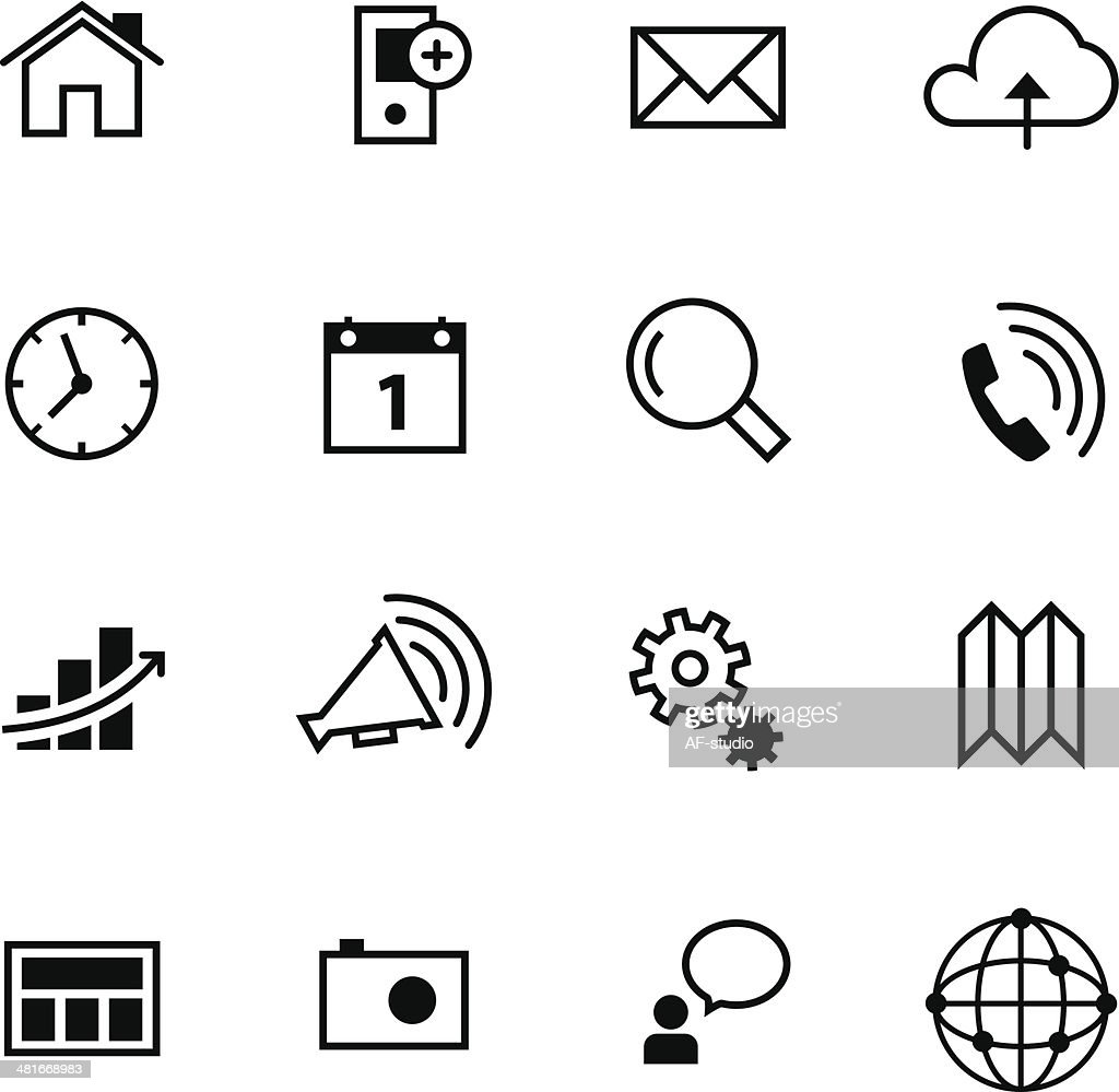 Set of interface icons #2