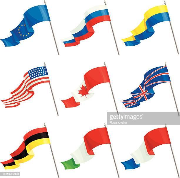 international flags set von - ukraine stock-grafiken, -clipart, -cartoons und -symbole