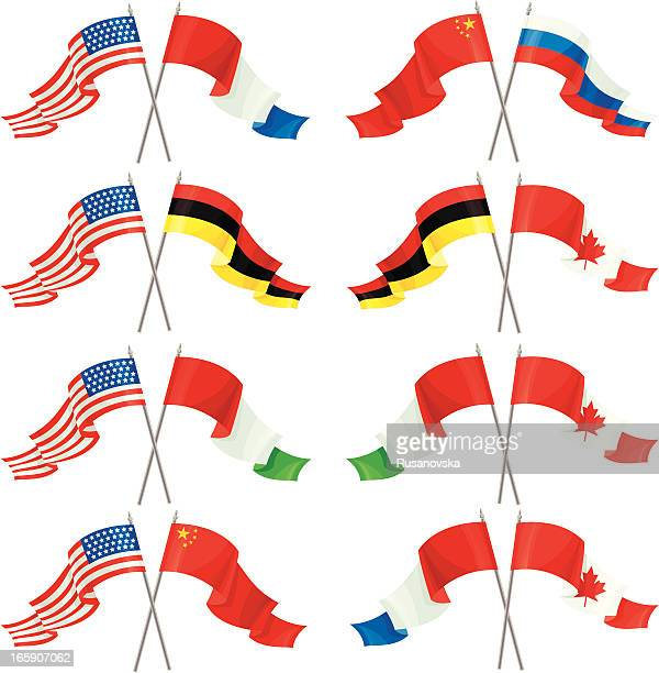 Set of International Friendship Flags