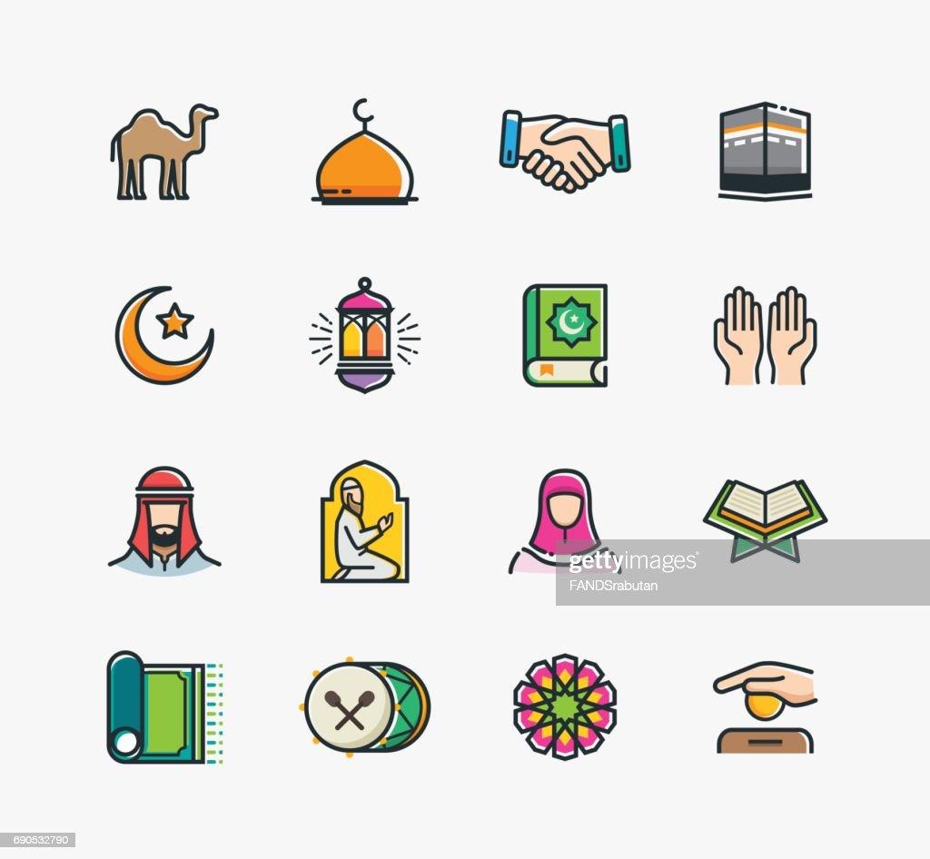 Set of Islamic Icons