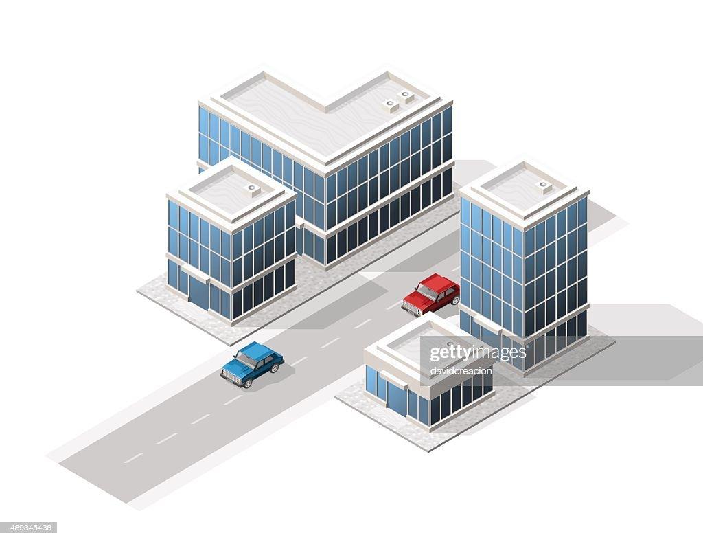 Set of Isolated High Quality Isometric City Elements.
