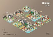 Set of Isolated Isometric Minimal City Maps. Elements.