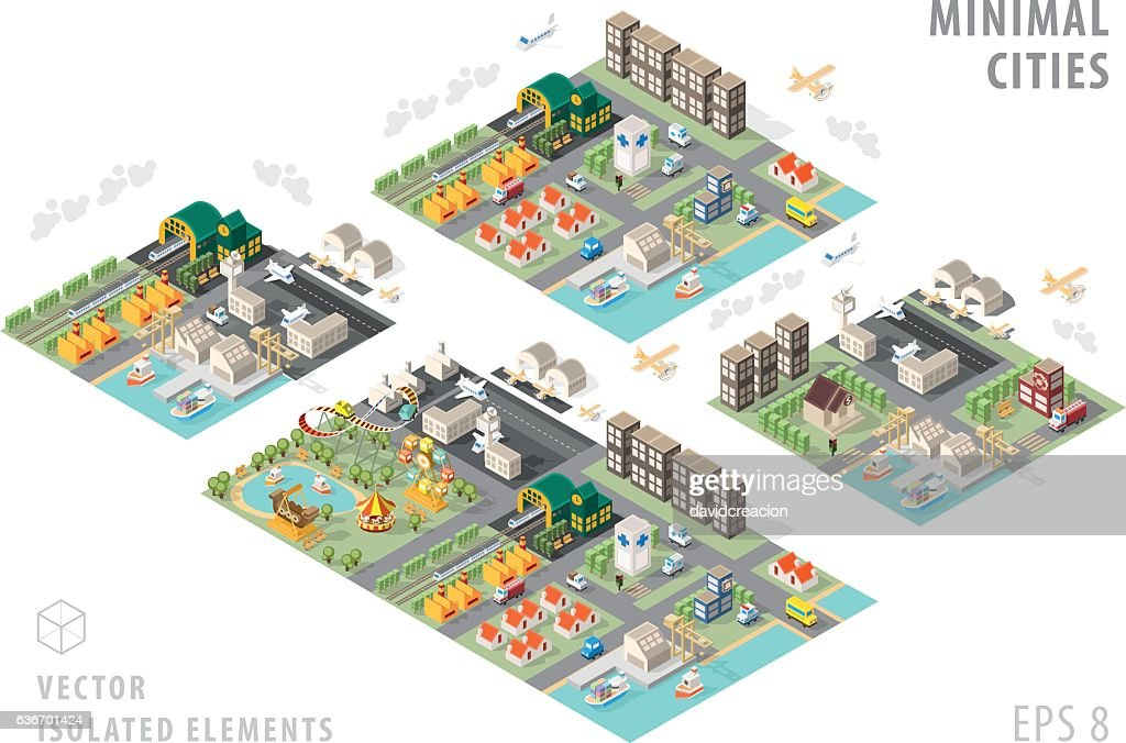 Set of Isolated Isometric Minimal City Maps.