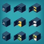 Set of isometric safe boxes