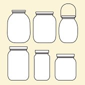 Set of jars template