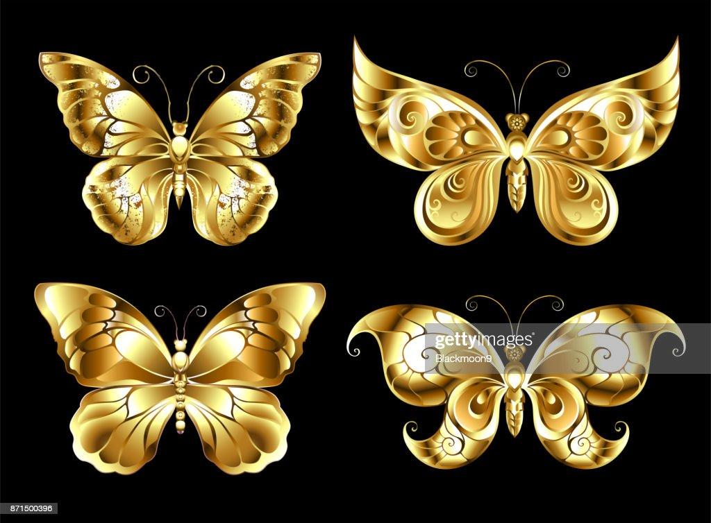 Set of jewelry butterflies