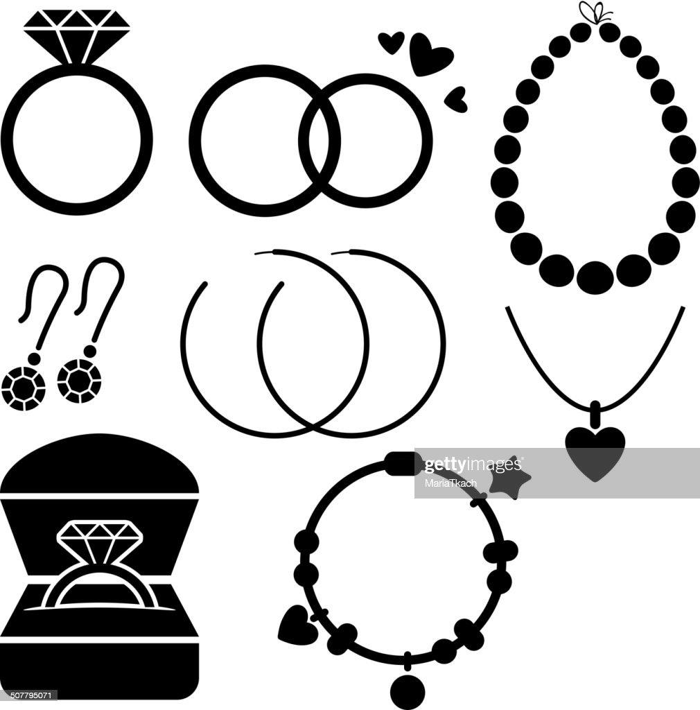 Set of jewelry icons.