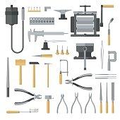 Set of jewelry tools.