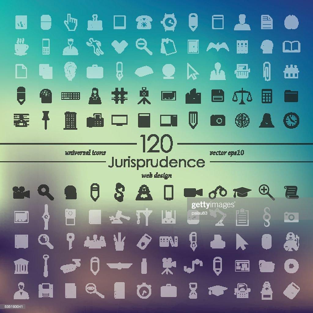 Set of jurisprudence icons