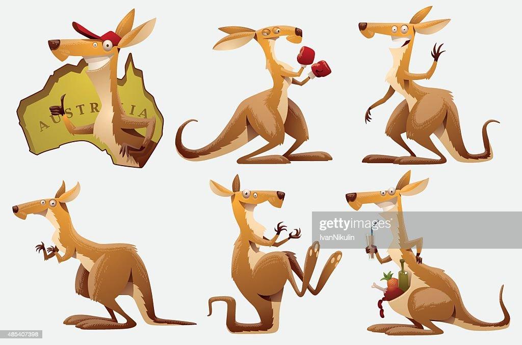 Set of Kangaroos