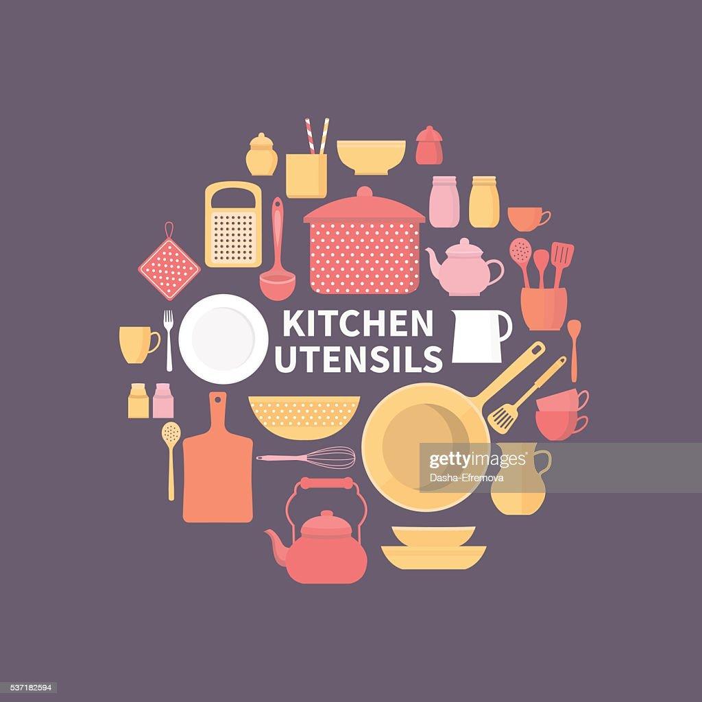 Set of kitchen icons