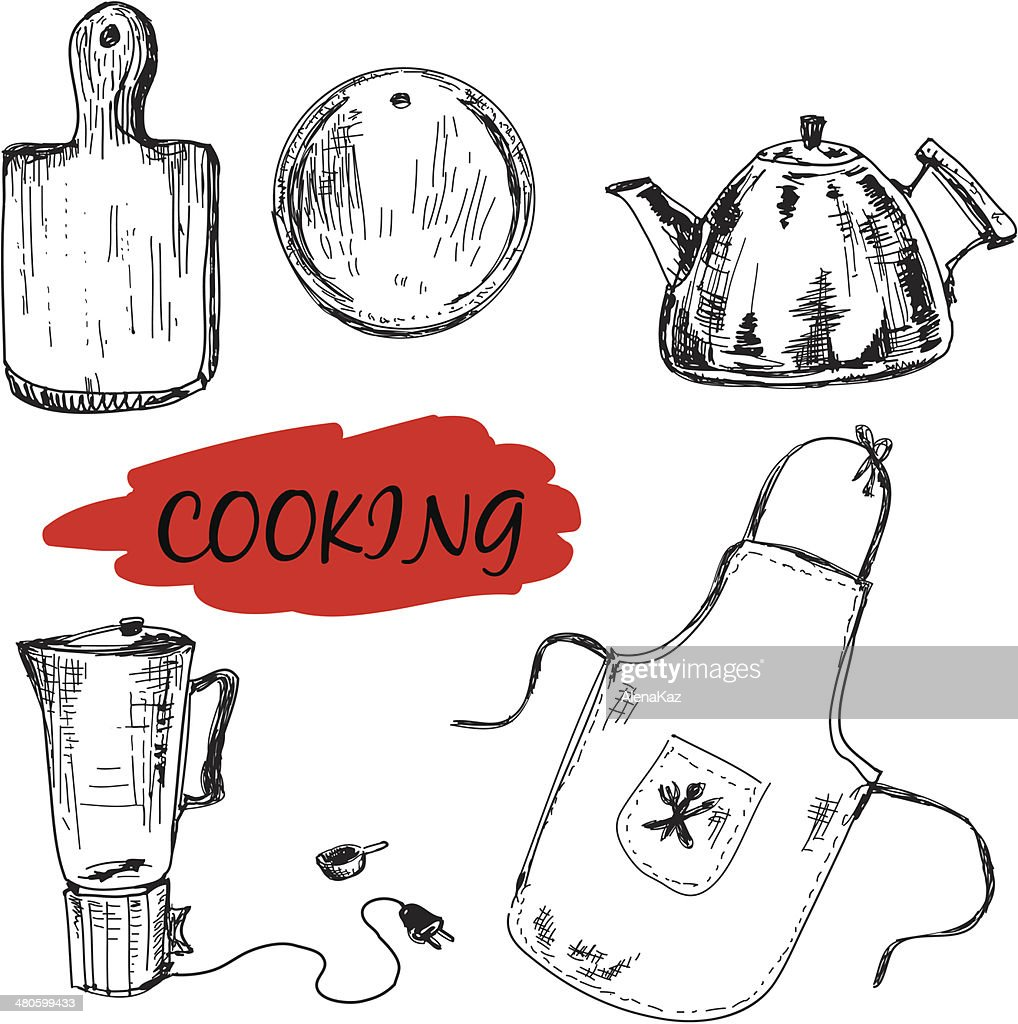 Set of kitchen utensils : Vector Art