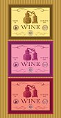 set of labels for bottles of wine or menu
