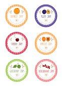 Set of labels for jam - Illustration
