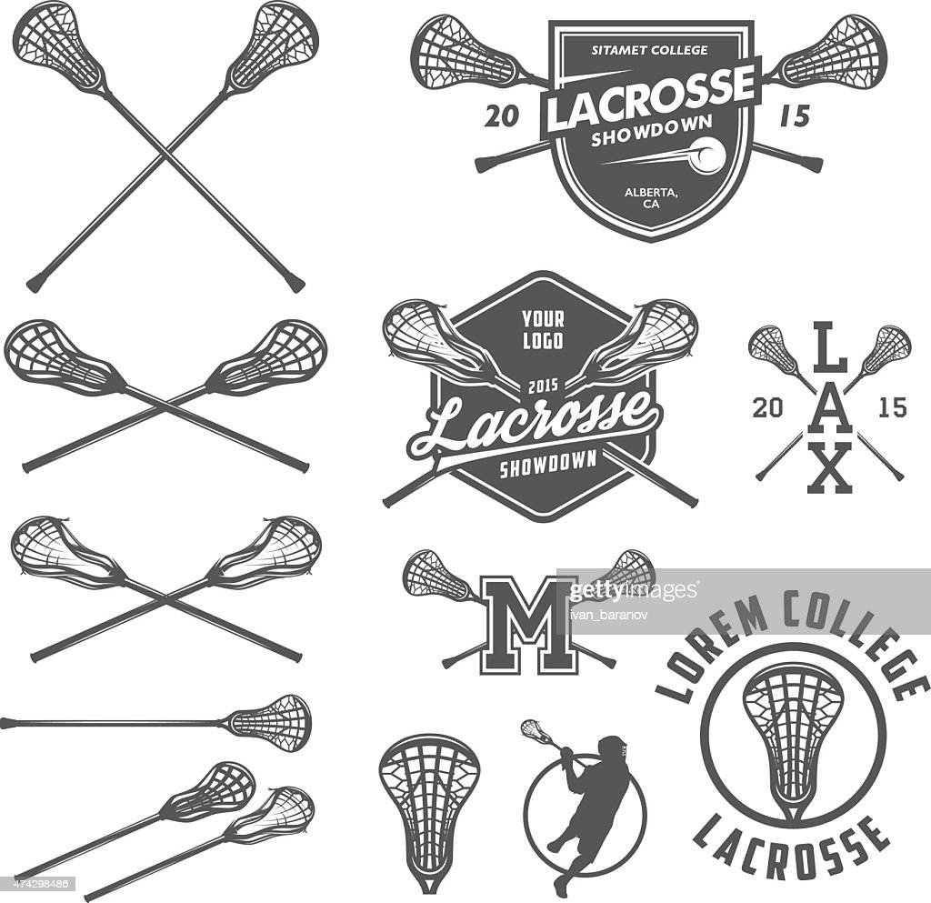 Set of lacrosse design elements