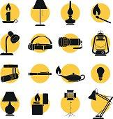 Set of Lamp Sihouettes